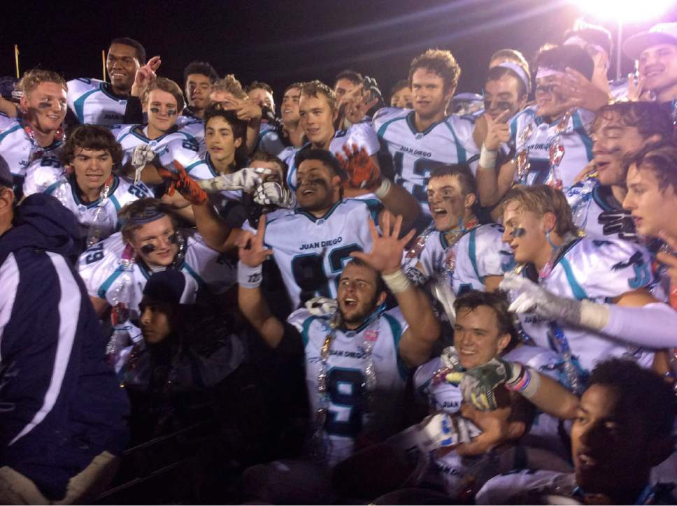 Courtesy  |  Tom Zulewski  Juan Diego players marking seventh title for school under coach John Colosimo.