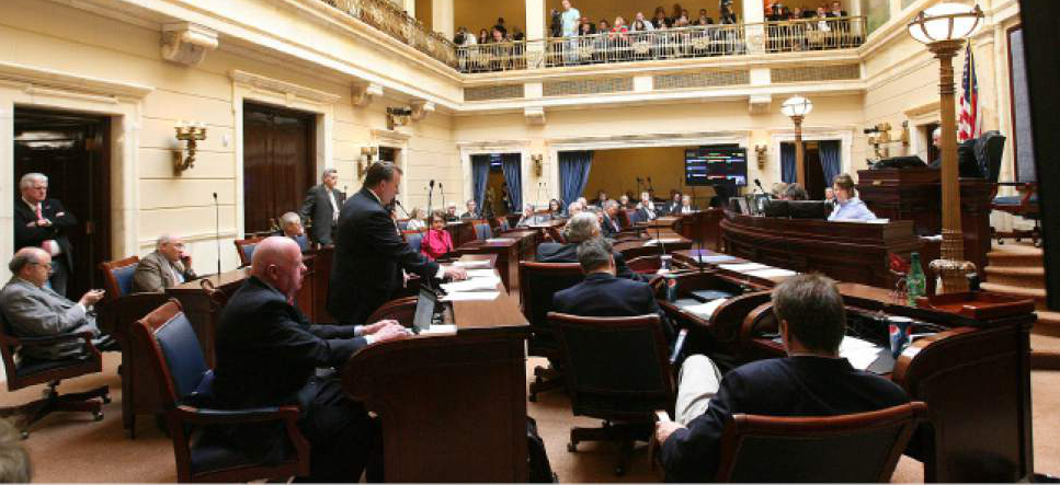 Leah Hogsten  |  Tribune file photo The Senate chamber during a recent session of the Utah Legislature.