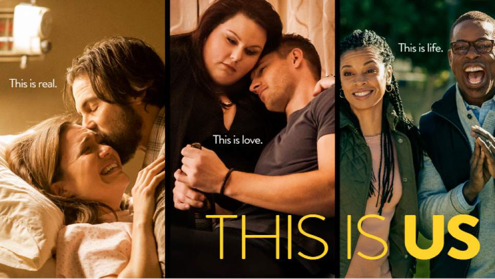 """Mandy Moore, Milo Ventimiglia, Chrissy Metz, Justin Hartley, Susan Kelichi Watson and Sterling K. Brown star in """"This Is Us."""" Courtesy  