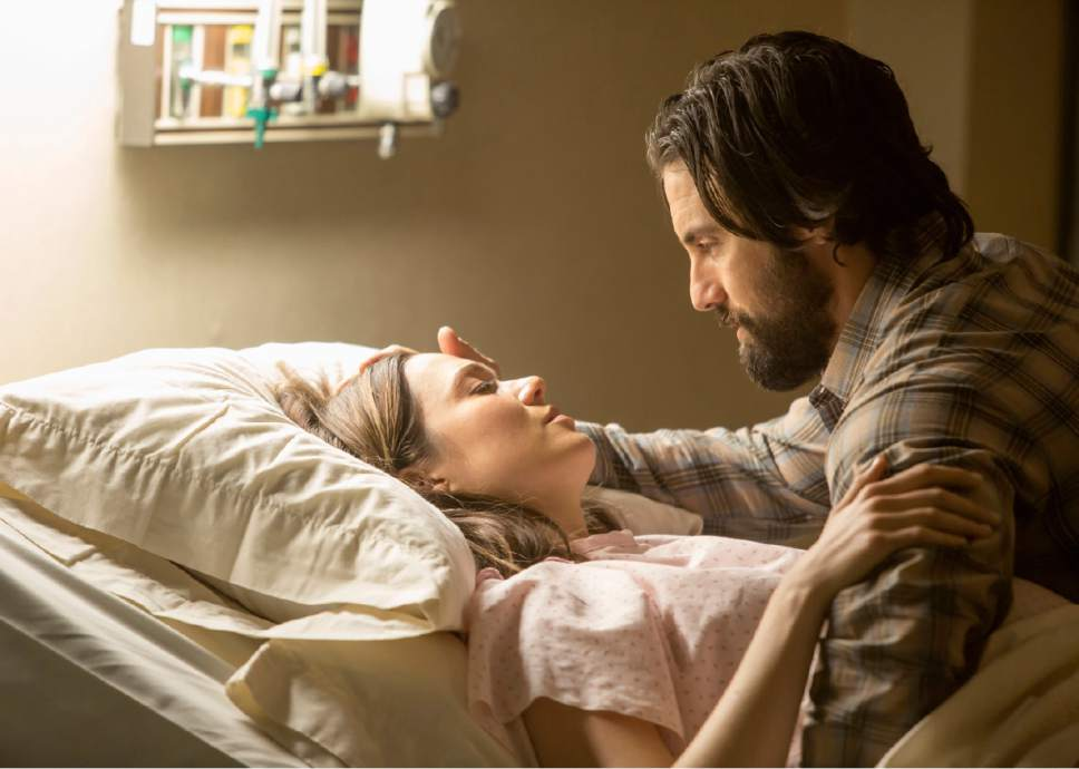 """Mandy Moore as Rebecca and Milo Ventimiglia as Jack in """"This Is Us.""""  Photo by: Ron Batzdorff/NBC"""