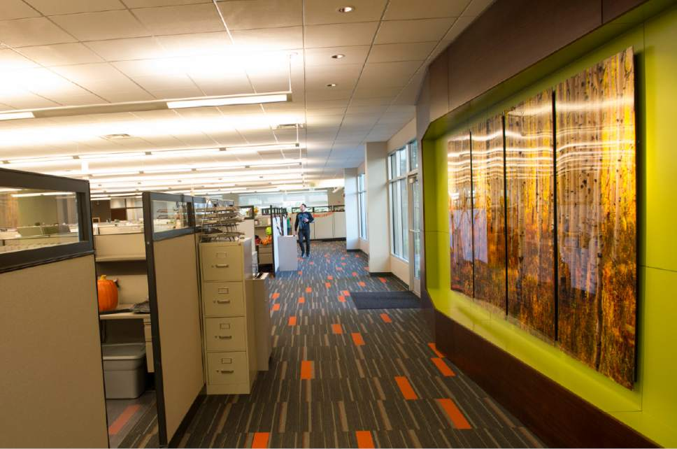Rick Egan  |  The Salt Lake Tribune Office at Prestige Financial, a mortgage and credit company in Salt Lake City.