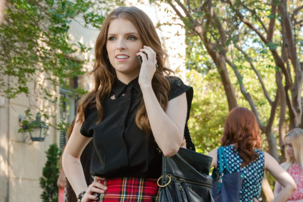 "This photo released by Universal Pictures shows, Anna Kendrick as Beca, in a scene from the film, ""Pitch Perfect 2."" (Richard Cartwright/Universal Pictures via AP)"