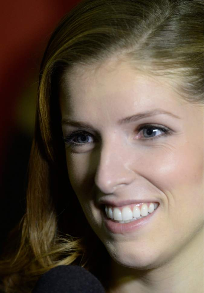 """Rick Egan    The Salt Lake Tribune   Anna Kendrick at the Library Center, in Park City, for the premiere of """"Happy Christmas,"""" at the Sundance Film Festival, Sunday, January 19, 2014."""