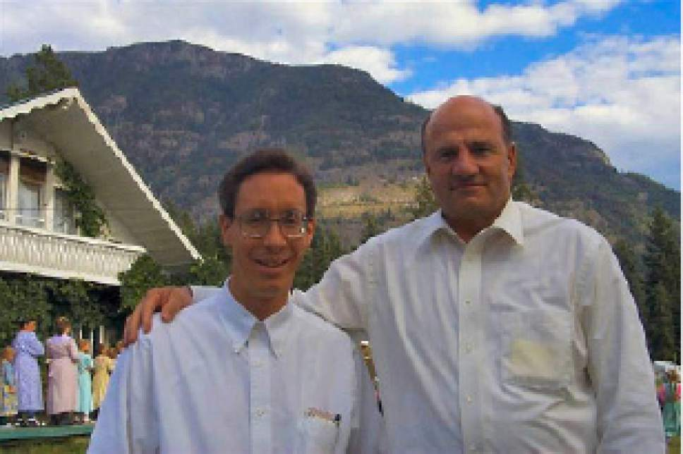 Warren Jeffs and Wendell Nielsen, founder of Western Precision Inc., traveled together in 1999 to Bountiful, British Columbia, to visit FLDS members there.