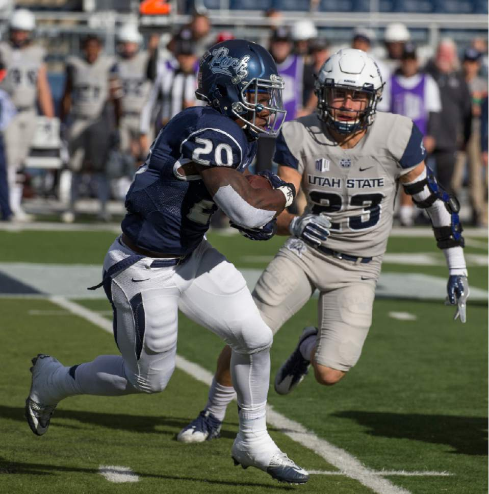 Utah State football: Nevada uses late rally to edge Utah State, 38 ...