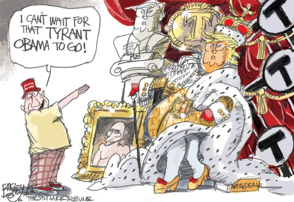 Pat Bagley cartoon for Nov. 23, 2016.