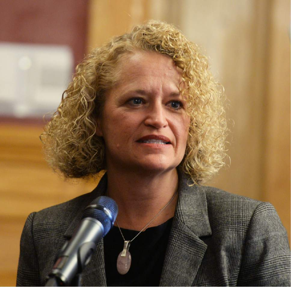 Steve Griffin  |  Tribune file photo Salt Lake City Mayor Jackie Biskupski delivers her budget proposal to the Salt Lake City Council at the City Hall on Tuesday, May 3, 2016.