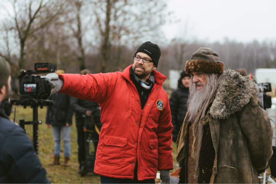 Star John Rhys-Davies and director Adam Thomas Anderegg on location in Lithuania for the filming of ìWinter Thaw.î Lukas Salina     BYUtv