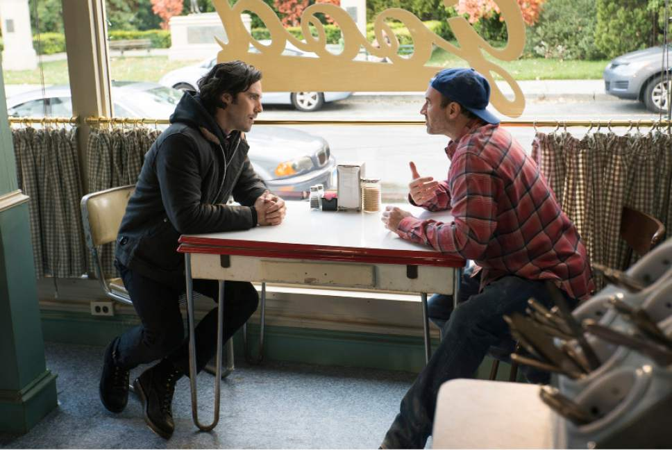 "Milo Ventimiglia as Jess and Scott Patterson as Luke in ""Gilmore Girls: A Year in the Life."" Saeed Adyani  