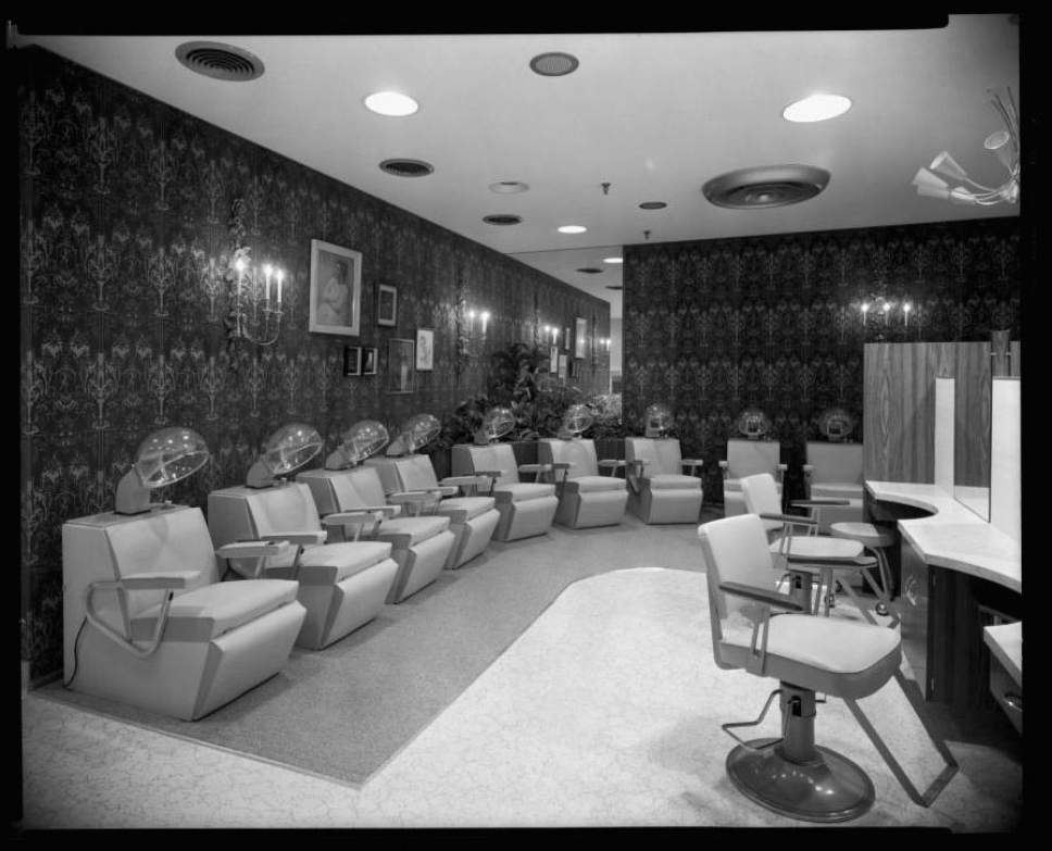 Courtesy  |  Salt Lake Historical Society  The salon at ZCMI in downtown Salt Lake City. March 19, 1962.