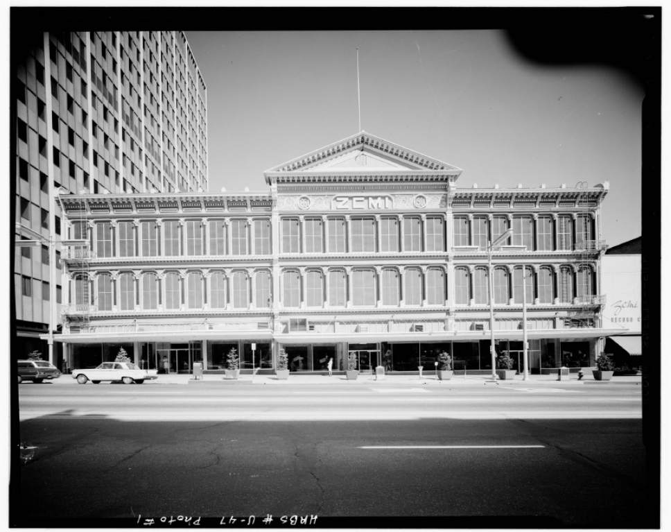 Photos courtesy Library of Congress  ZCMI in downtown Salt Lake City in the mid-1960s.