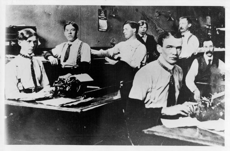 Tribune file photo  Employees in the ZCMI Invoice Dept. are seen in this photo from 1903.