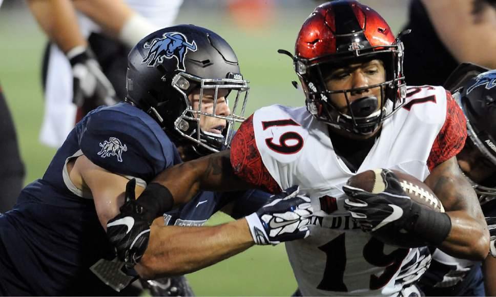 College Football San Diego State S Pumphrey Climbing Career Rushing