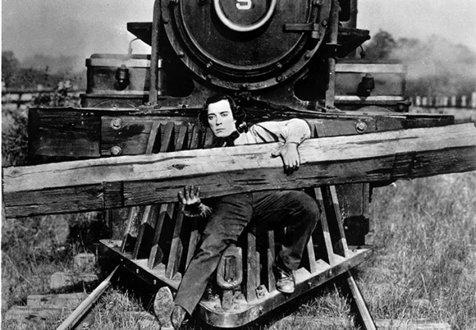 "Buster Keaton plays a Confederate engineer saving his train from Union thieves in the 1925 silent classic ""The General."" Courtesy The Organ Loft"
