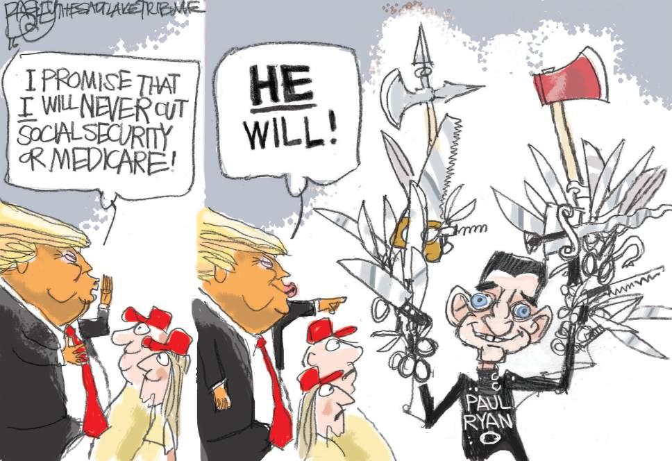 Pat Bagley cartoon for Nov. 30, 2016.