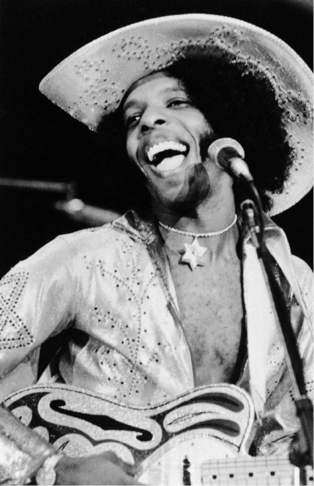 "FILE - This April 1972 file photo shows rock singer Sylvester ""Sly"" Stone of the music group, Sly and the Family Stone. ""On the Sly: In Search of the Family Stone,"" written and directed by Michael Rubenstone, will make its world premiere at the 2017 Slamdance Film Festival in Park City. (AP Photo, File)"