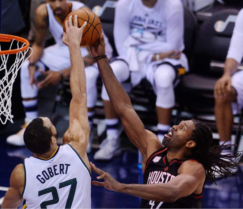 Steve Griffin   The Salt Lake Tribune Utah Jazz center Rudy Gobert (27)  blocks 0f4b15a705c2