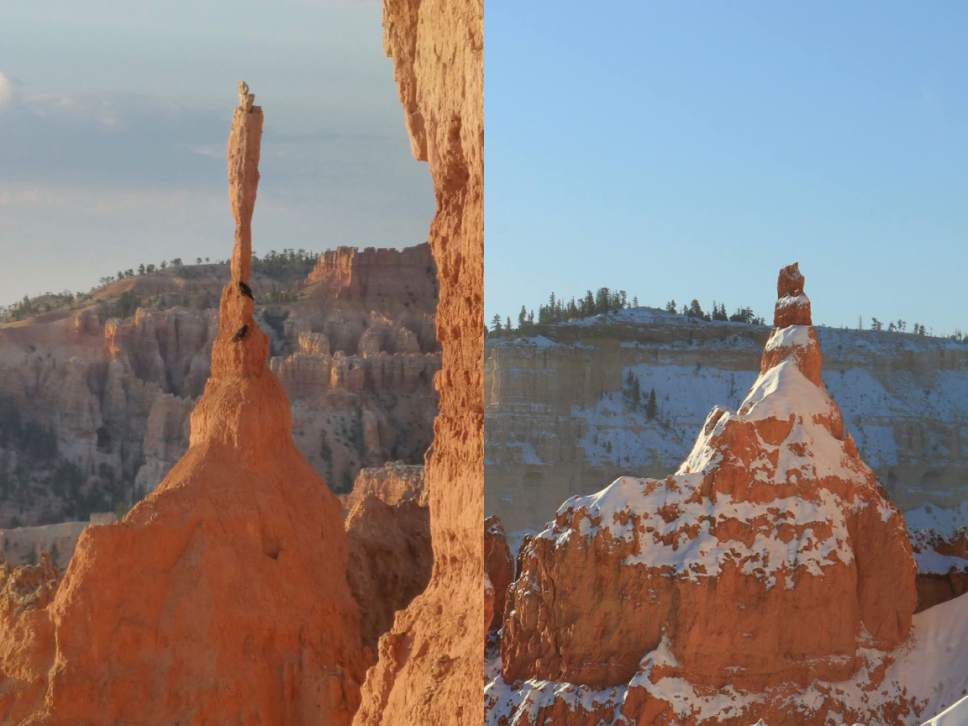 Courtesy of National Park Services The Sentinel in Bryce Canyon has fallen down.