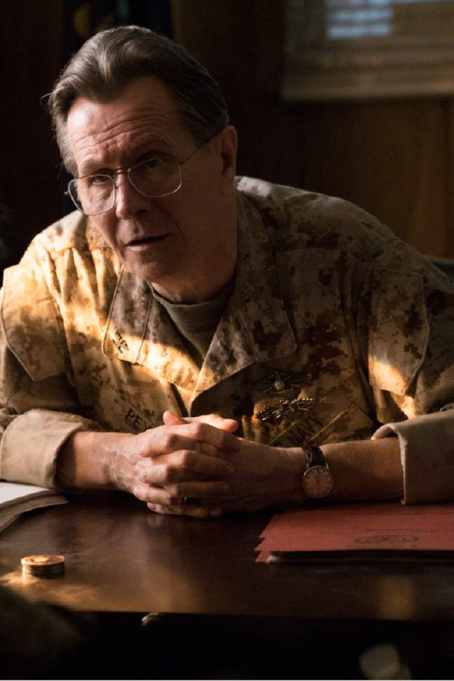 "In this image released by Lionsgate, Gary Oldman appears in a scene from ""Man Down."" (Lionsgate via AP)"