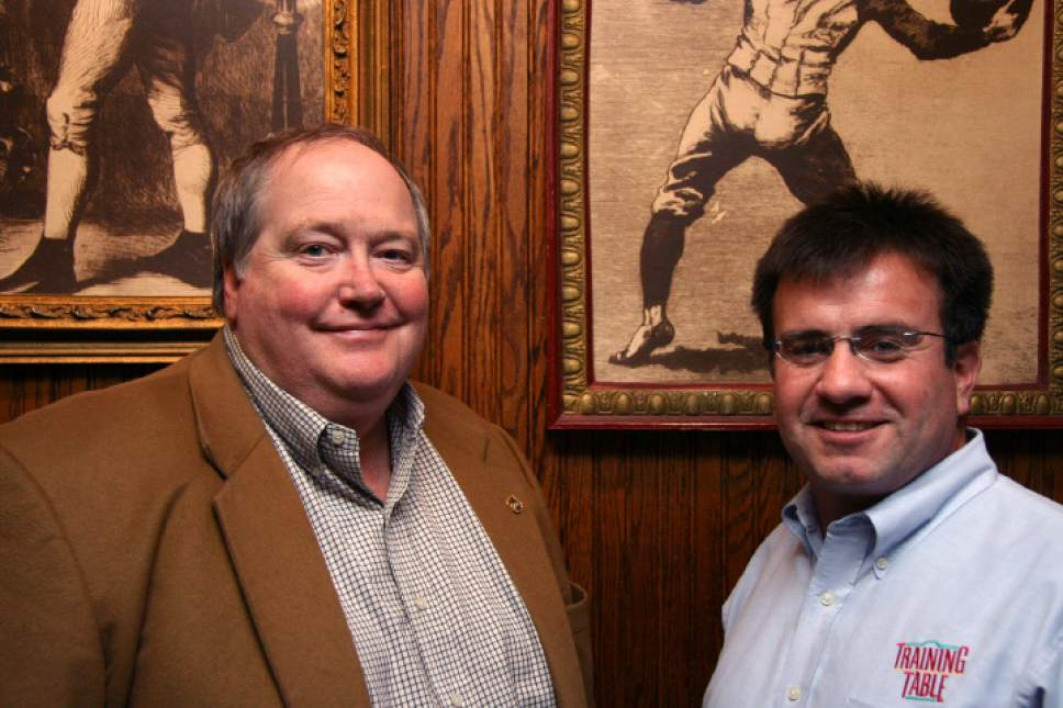 |  Tribune File Photo  Training Table Restaurant owners Kent Chard (left) and Rich Ulibarri January 3, 2006.