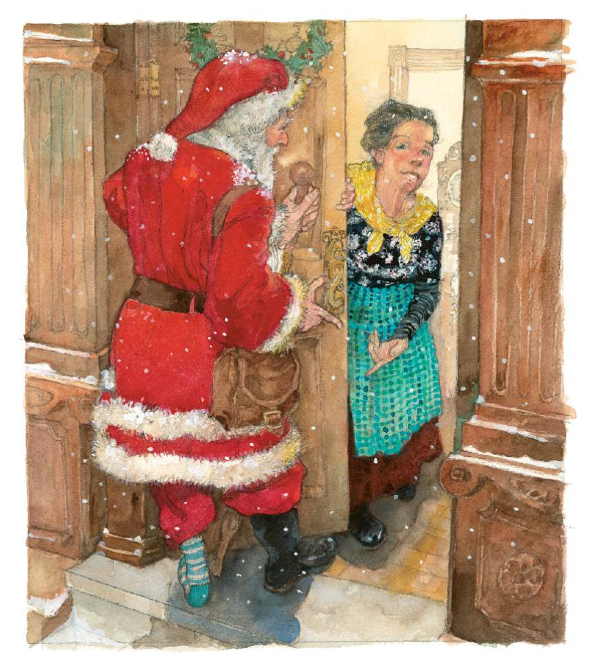 "An image from ""The Christmas Boot"" by Lisa Wheeler and illustrated by Jerry Pinkney. Courtesy Penguin Young Readers"