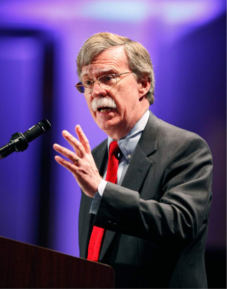 Former U.S. Ambassador to the United Nations John Bolton speaks at the opening night dinner of the California Republican Convention in Sacramento, Calif., Friday, March, 18, 2011.(AP Photo/Steve Yeater)