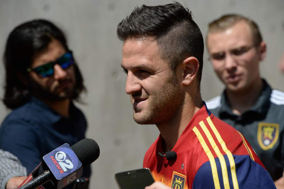 Francisco Kjolseth | The Salt Lake Tribune New RSL Designated Player Juan Manuel Martinez, nicknamed 'El Burrito,' is unveiled to the media and officially introduced as the newest player at RSL after a standout career at one of the best clubs in South America, Boca Juniors.