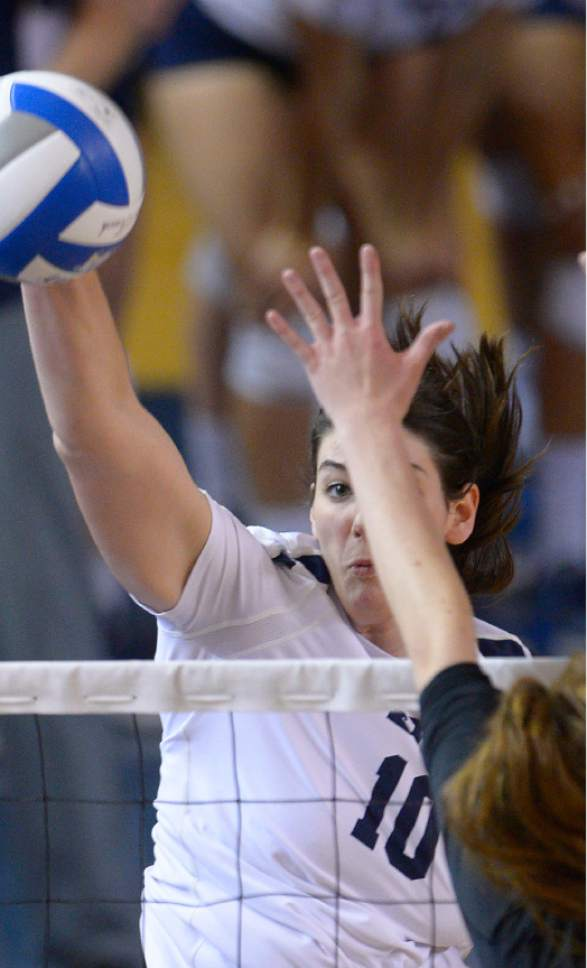 Leah Hogsten  |  The Salt Lake Tribune Brigham Young University women's volleyball team defeated Princton 3-0 during the first round of the NCAA tournament Friday, December 2, 2016 on the campus of Brigham Young University.
