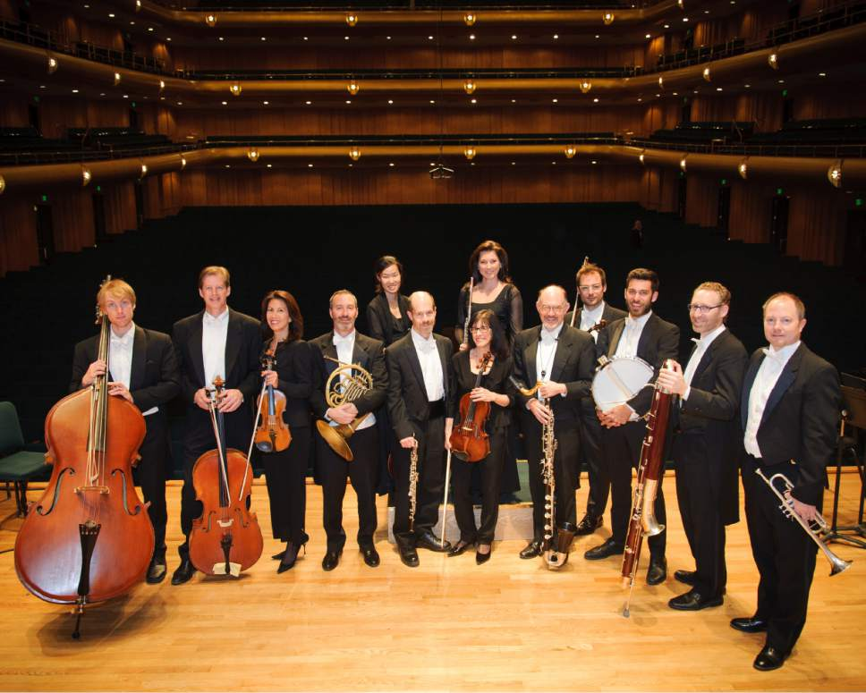 The Utah Symphony musicians who will go on a service trip to Haiti in the spring. Front, left to right: Jens Tenbroek, John Eckstein, Yuki MacQueen, Steve Proser, James Hall, Roberta Zalkind, Lee Livengood, Eric Hopkins, Leon Chodos, Jeff Luke Back, left to right: Anne Lee, Mercedes Smith, Claude Halter (Not pictured: David Langr, Thierry Fischer)