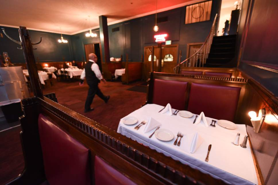 Francisco Kjolseth | The Salt Lake Tribune Lamb's Grill has struggled financially since losing its liquor license in October. In late-November, it was fined $9,000 for failing to tell the Utah Department of Alcoholic Beverage Control that it had an ownership change. The DABC on Thursday reduced the fine to $2,500.