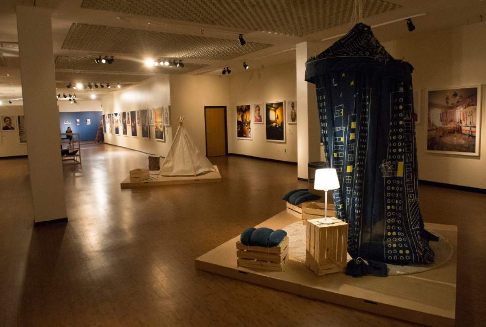 """Rick Egan     The Salt Lake Tribune  The newest exhibit at The Leonardo museum in Salt Lake City, titled """"Where Children Sleep,"""" examines class, race, hunger, education and a host of issues, all through the lens of a child's bedroom. The exhibit showcases bedrooms from around the world, along with a beautiful portrait of each child by photographer James Mollison."""