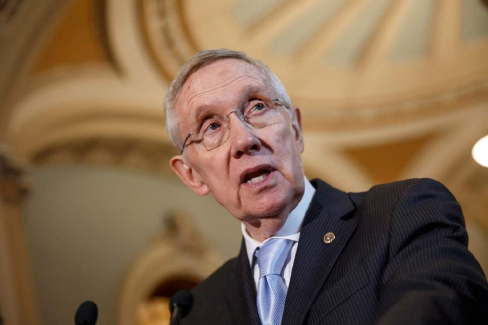 AP file photo Senate Majority Leader Harry Reid, D-Nev., joined the opposition to the trade authority bill, saying it could be a jobs killer.