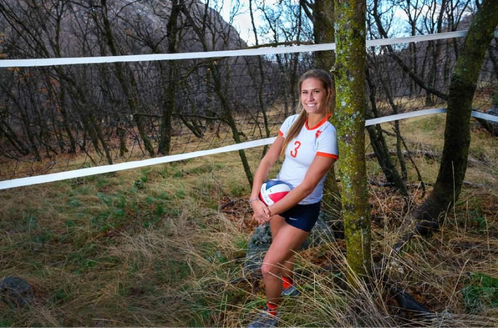 Francisco Kjolseth | The Salt Lake Tribune Dani Barton of Brighton High is The Tribune's 2016 prep volleyball Player of the Year.