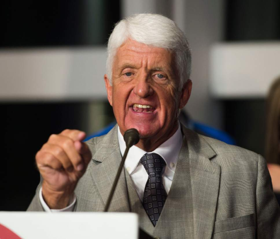 Steve Griffin   Tribune file photo  Rep. Rob Bishop, R-Utah, says if President Barack Obama does declare a Bears Ears National Monument, he will do everything in his power to reverse the action. He also said Thursday that he believes his years-in-the-making Public Lands Initiative will pass Congress next year.
