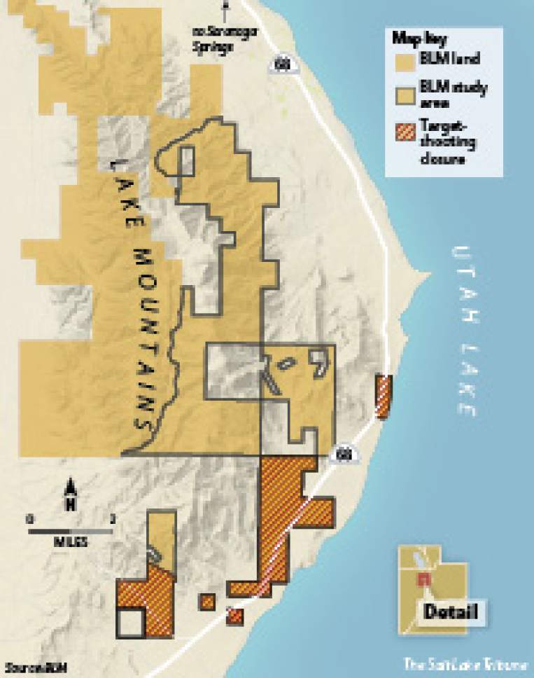 BLM will close 2,004 acres to target shooting near Utah Lake - The ...