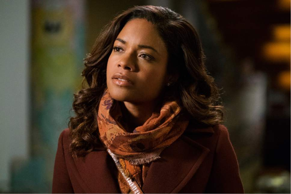 """This image released by Warner Bros. Pictures shows Naomie Harris in a scene from """"Collateral Beauty."""" (Barry Wetcher/Warner Bros. via AP)"""