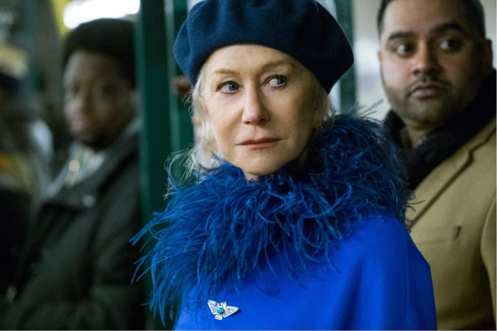 """This image released by Warner Bros. Pictures shows Helen Mirren in a scene from """"Collateral Beauty."""" (Barry Wetcher/Warner Bros. via AP)"""
