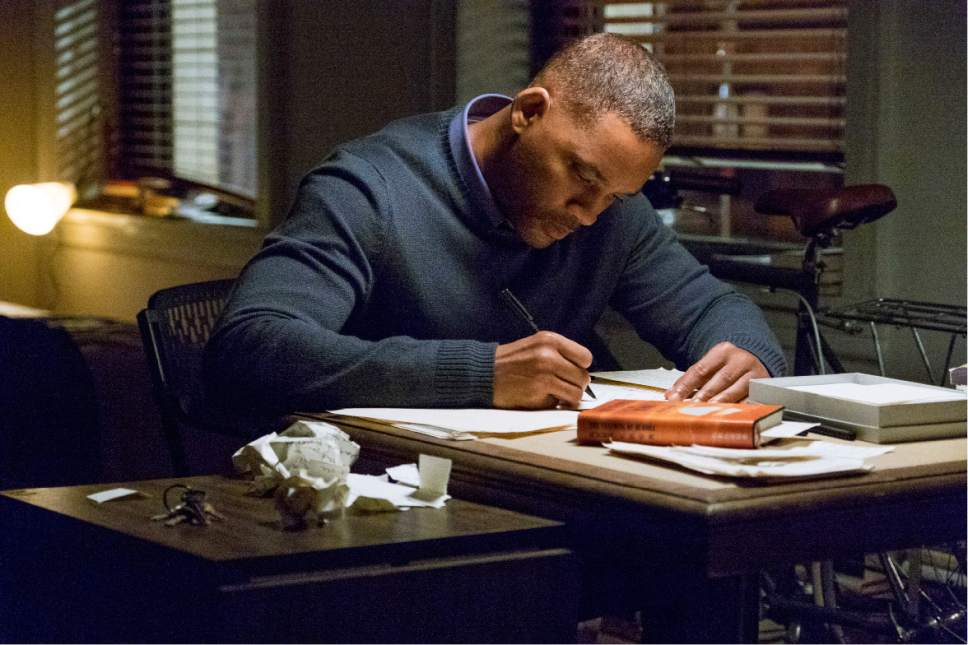 """This image released by Warner Bros. Pictures shows Will Smith in a scene from """"Collateral Beauty."""" (Barry Wetcher/Warner Bros. via AP)"""