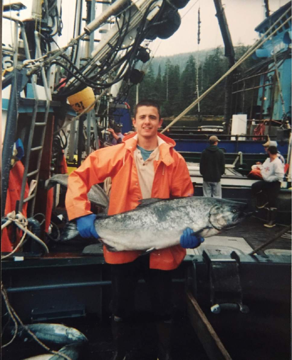 Courtesy photo After his LDS mission, Evan McMullin spent a summer working as a deckhand on a fishing vessel to make enough money to go to college.