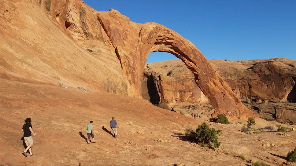 Jessica Miller  |  The Salt Lake Tribune  Corona Arch trail in Moab, Utah.