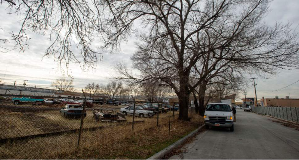 Steve Griffin /  Tribune file photo  Aloha Towing Inc. at 275 west High Avenue is one of the four new locations for proposed homeless shelters in Salt Lake City Tuesday December 13, 2016.