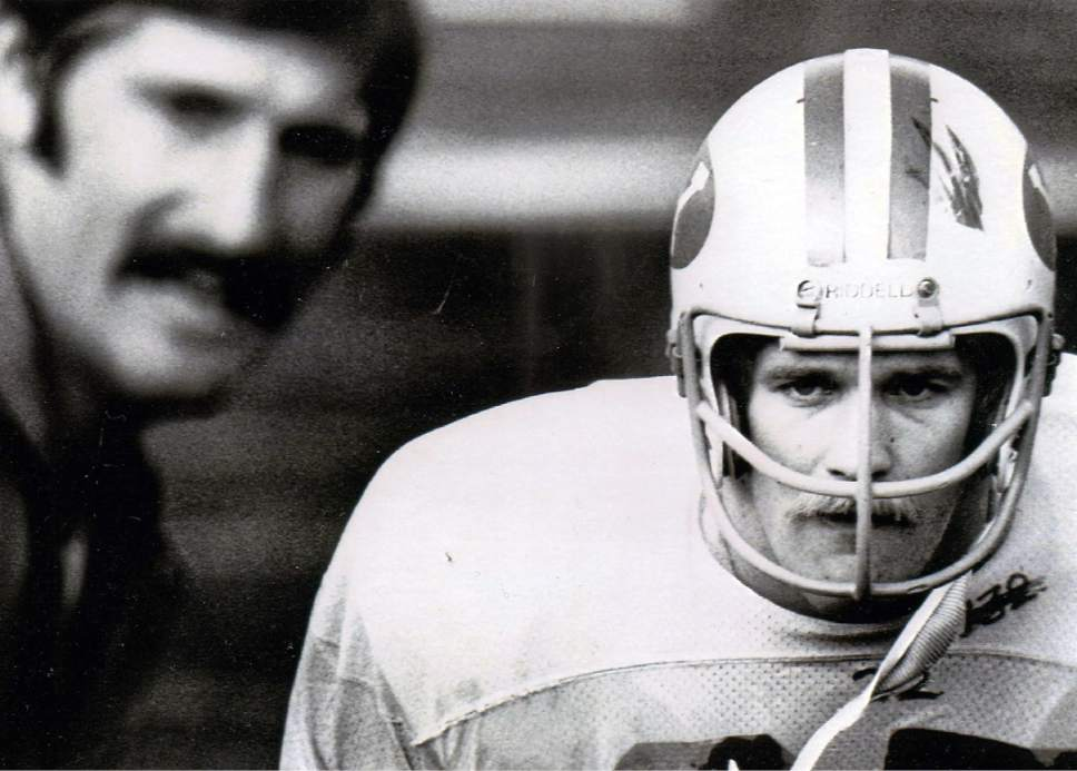 photo courtesy Larry Carr  Larry Carr is seen with coach and mentor Fred Whittingham in 1974.