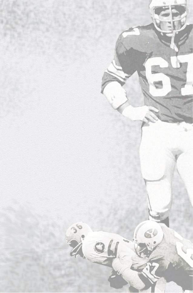 photo courtesy Larry Carr  Former BYU football player Larry Carr is seen on the field in 1972.