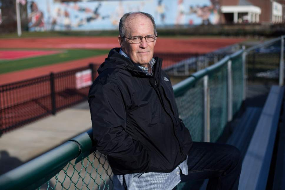 12/10/16 -- West Roxbury, MA -- Larry Carr poses for a portrait at a local high school football field December 10, 2016, in West Roxbury, Massachusetts.  (Kayana Szymczak for the Salt Lake Tribune)