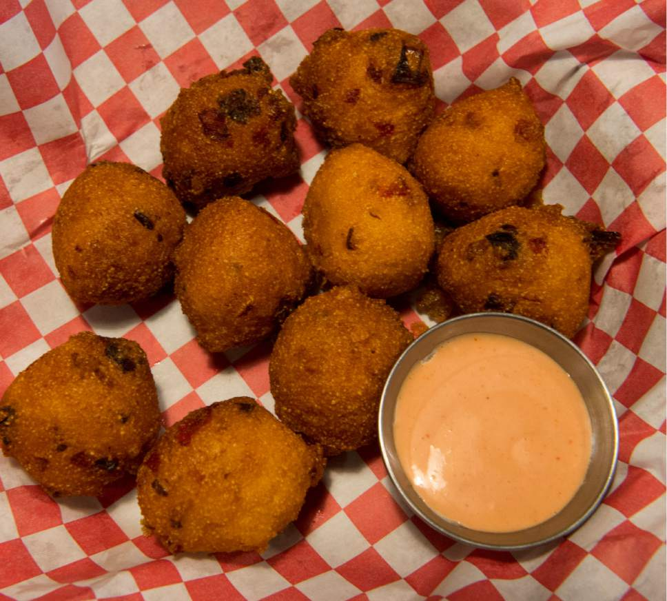 Rick Egan  |  The Salt Lake Tribune  Hush Puppies at SoCo, a new restaurant that specializes in Southern comfort food, 319 Main St., Salt Lake City.