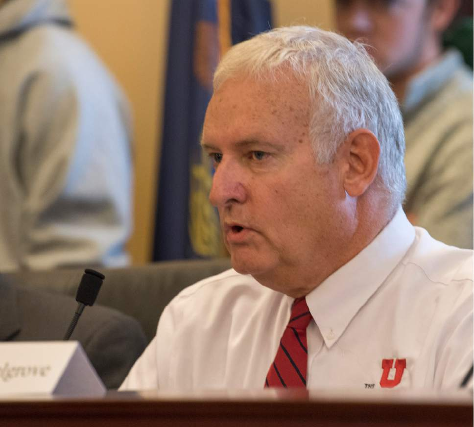Rick Egan  |  The Salt Lake Tribune  Richard Snelgrove introduces himself, as a member of the Utah electoral college, as they prepared to place their votes at the Utah State Capitol, Monday, December 19, 2016.