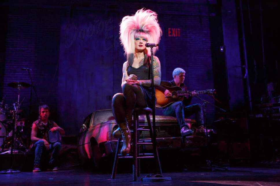 Euan Morton will play Hedwig and Hannah Corneau will play Yitzhak in the national tour of Hedwig and the Angry Inch, the 2014 Tony Award-winning Best Musical Revival, playing Dec. 20-24 at Salt Lake City's Eccles Theater. Joan Marcus  |  Courtesy