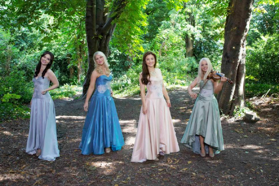 the irish quartet celtic woman made up of from left mairead carlin