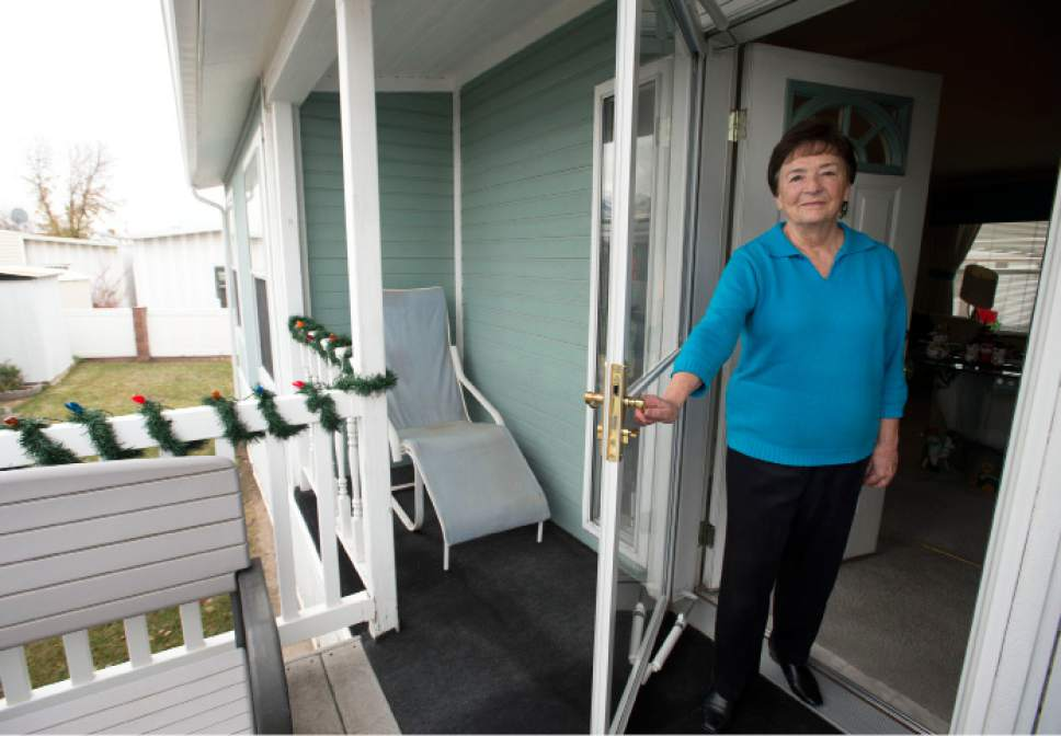 Steve Griffin / The Salt Lake Tribune Shirlene Stoven, 80, at her residence at the Applewood Mobile Home park in Midvale on Friday, Dec. 9, 2016. Manufactured-home residents in Utah remain vulnerable to exploitation by park owners as highlighted by a recent legislative study.