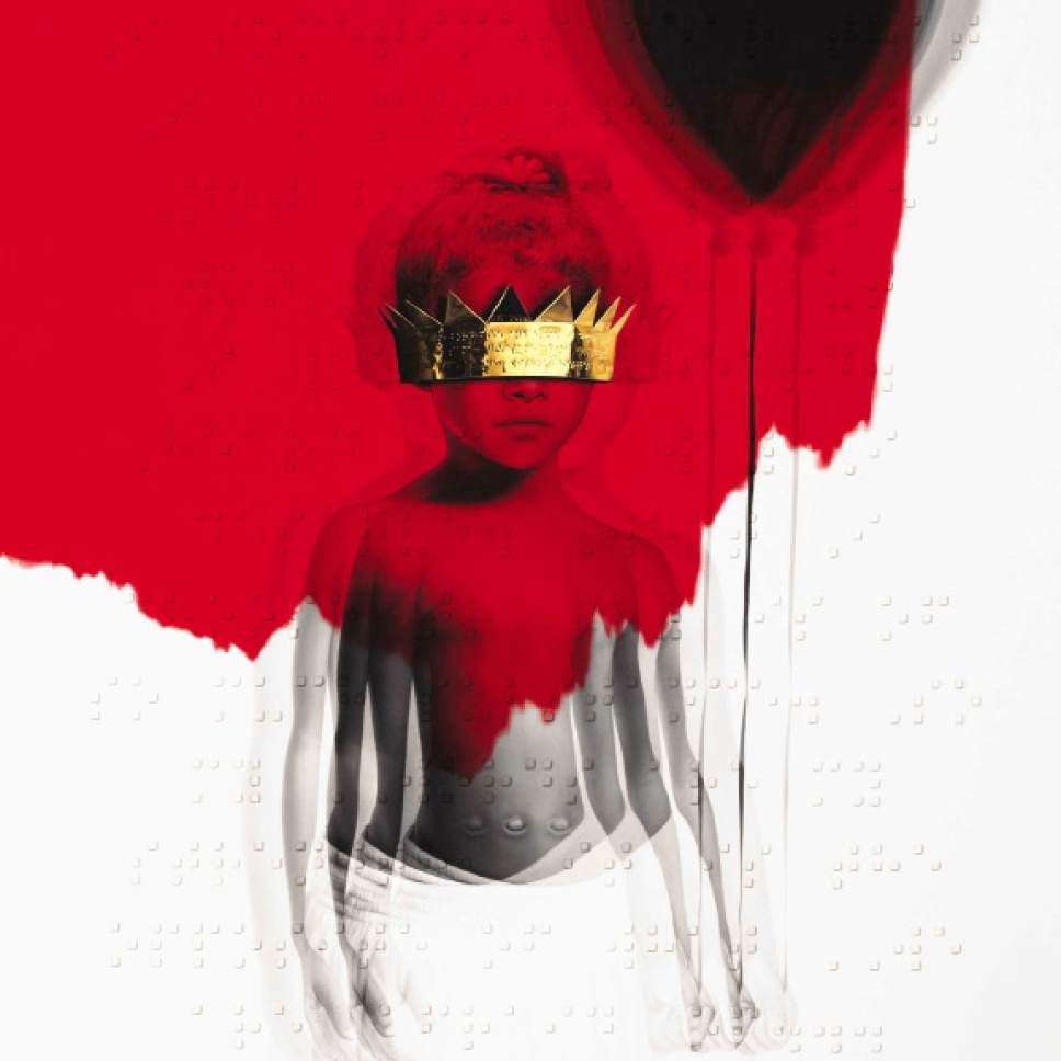 "This cover image released by Roc Nation shows ""Anti,"" by Rihanna. (Roc Nation via AP)"